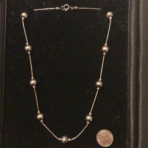 Jewelry - Sterling silver bead necklace